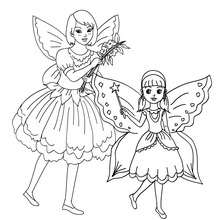 Desenho para colorir de fantasias de FADAS para o CARNAVAL
