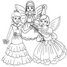 Desenho para colorir de fantasias de PRINCESAS E FADAS