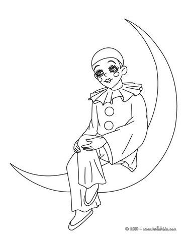 Pierrot Desenho Da Colombina Para Colorir Desenho Da Colombina Sentada