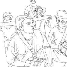 Desenho da bateria do samba para colorir