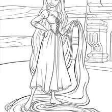Colorindo a Rapunzel e seus cabelos