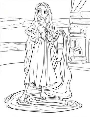 Desenhos Para Colorir De Colorindo A Rapunzel E Seus