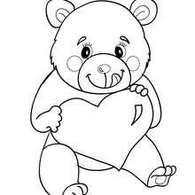 Desenho do ursinho do amor  para colorir