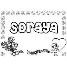 amor, Soraya para colorir