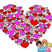Quebra-cabeça de corações do dia dos namorados