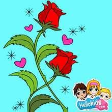 Quebra-cabeça deslizante de uma rosa com corações