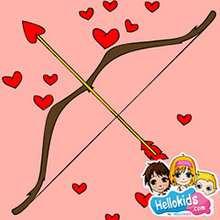 Quebra-cabeça deslizante de um arco e flecha do dia dos namorados