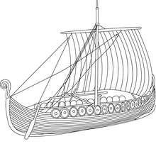 barco, Desenho para colorir de um navio Viking