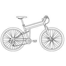 Desenho de uma bicicleta para colorir