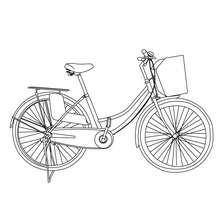 Desenho de uma bicicleta Holandesa para colorir