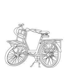 Desenho para colorir de uma bela bicicleta Holandesa