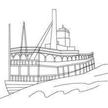 Desenho de um Barco a vapor para colorir