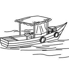 barco, Desenho para colorir de uma Gôndola