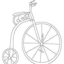 Desenho de uma bicicleta antiga para colorir