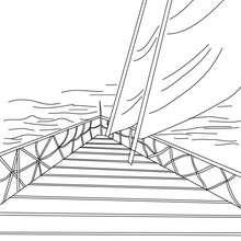 Desenho para colorir de um veleiro