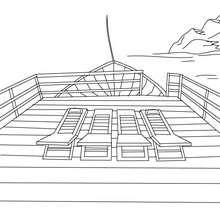 Desenho de um Navio de Cruzeiro para colorir