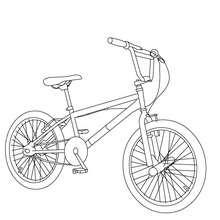 Desenho de uma bicicleta BMX para colorir