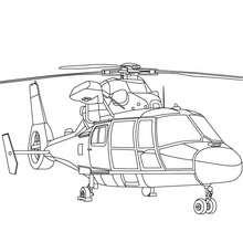 Desenho para colorir de um helicópetro militar