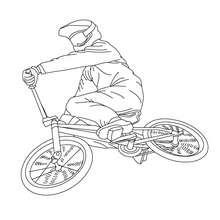 Desenho de uma bicicleta BMX  para colorir online