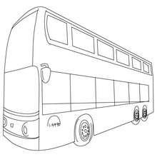 Desenho de um ônibus de dois andares para colorir online