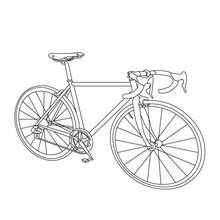 Desenho de uma corrida de bicicleta para colorir