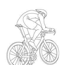 Desenho de uma corrida de bicicleta BMX para colorir