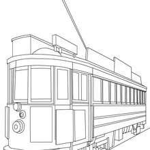 Desenho de um antigo bonde de São Francisco para colorir