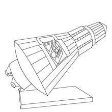 astronave, Desenho de uma  Cápsula espacial para colorir
