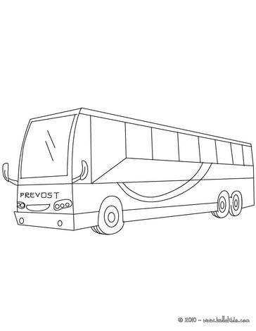 Desenho de um ônibus de excursões para colorir