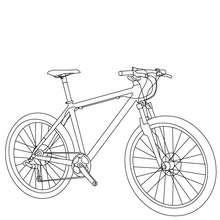 Desenho de uma bicicleta de MTB para colorir