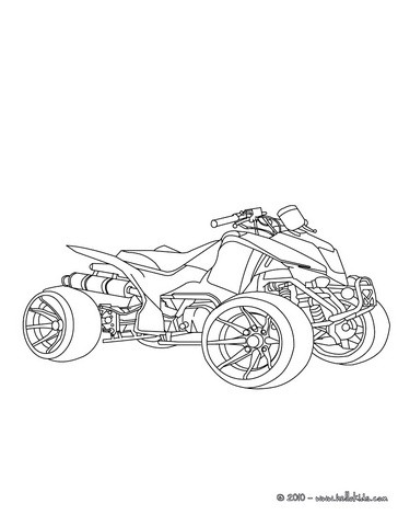 Desenho de um quadriciclo para colorir