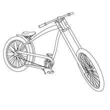 Desenho de uma bela bicicleta antiga para colorir