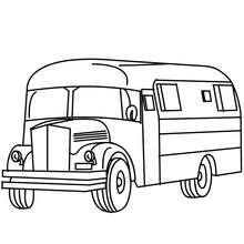 Desenho para colorir online de um ônibus