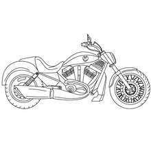 Desenho para colorir de uma moto Harley Davidson