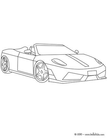 Desenho da equipe Scuderia Ferrari de Fórmula 1 para colorir