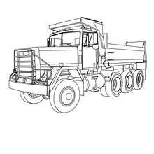 caminhão, Desenho para colorir de uma caminhonete