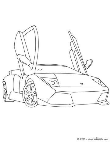 Uma Lamborghini Murcielago para colorir