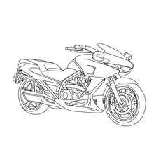 Desenho de uma moto esportiva para colorir online
