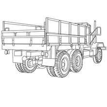 Desenho de um caminhão vazio para colorir