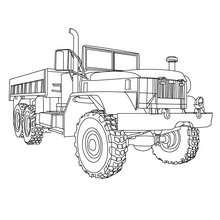 Desenho de um caminhão de carga para colorir