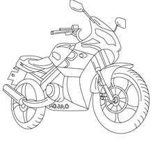 Desenho de uma moto para colorir