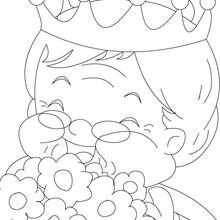 Desenho da vovó, a rainha  para colorir