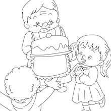 Desenho do bolo da vovó  para colorir