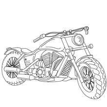 Desenho de uma Harley Davidson para colorir
