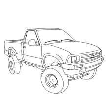 caminhão, Desenho de um Pickup para colorir