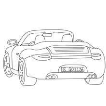 Desenho de uma super Porsche Carrera para colorir