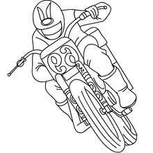 motocicleta, Uma corrida de motocross para colorir