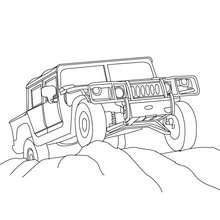caminhão, Desenho de um Pick-up Hummer para colorir