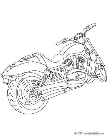 Uma Harley Davidson para colorir