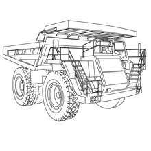 Desenho de um Caminhão lagarta para colorir